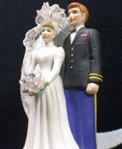 Navy Marine Sailor Army Wedding Cake Topper Top Uniform Soldier