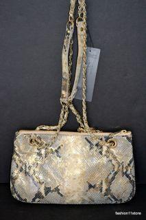 DKNY Metallic Python Handbag Bolsa Sac Väska Handtasche СУМКА