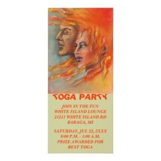 GREEK GOD & GODDESS TOGA PARTY STARTER Rack Card