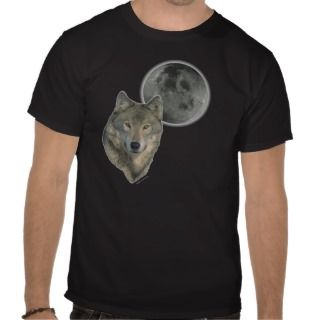 Wolf head Moon Tee Shirts