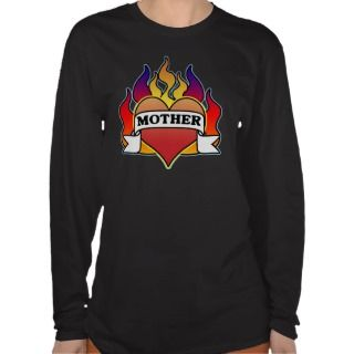 Mother Heart Tattoo Mothers Day Long Sleeve Tee