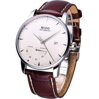Mido Baroncelli Power Reserve Mechanical Automatic Swiss Watch White