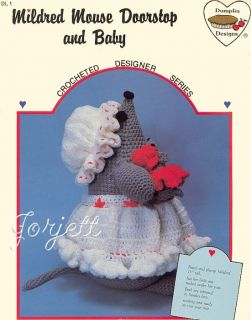 Mildred Mouse Doorstop Baby Dumplin Designs Crochet Pattern