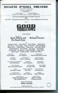 Beach Boy Good Vibrations Broadway Cast Signed Autograph Playbill