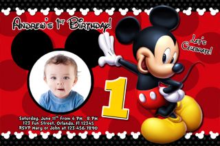 Mickey Mouse Clubhouse Custom Invitations for perfect invitation sample