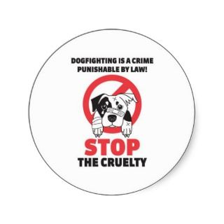 Stop Dog Fighting Stickers