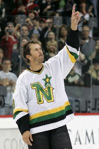 Mike Modano Minnesota North Stars Pro Game Weight Jersey Size 56