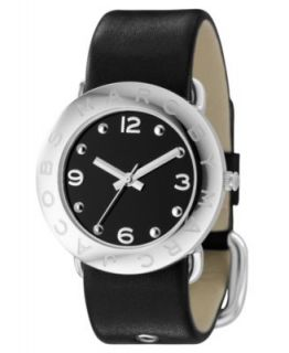Marc by Marc Jacobs Watch, Womens Black Leather Strap 40mm MBM1205