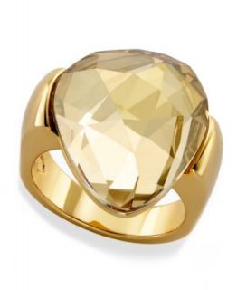 Swarovski Ring, Silver Tone Crystal Cocktail Ring