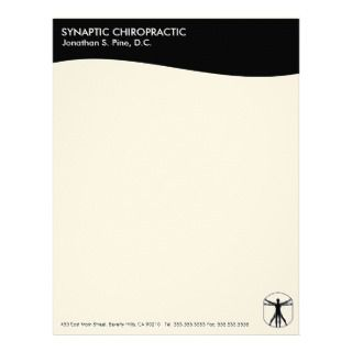 Modern Swirl Chiropractic Letterhead
