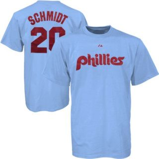 Phillies Mike Schmidt Vintage Blue Jersey T Shirt XXL