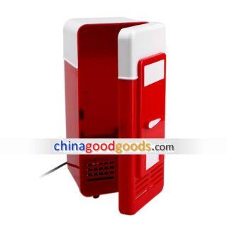 USB Super Mini Fridge Refrigeraor Beverage Drinks Cooler Keep Drinks