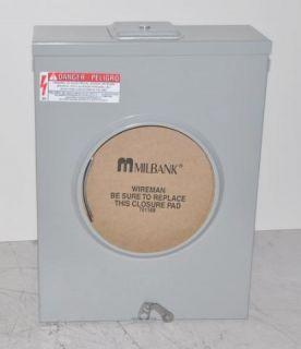 Milbank U7040 XL TG KK 600 Volt 200 Amp Meter Socket