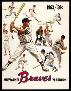 1963 Milwaukee Braves Year Book High Grade