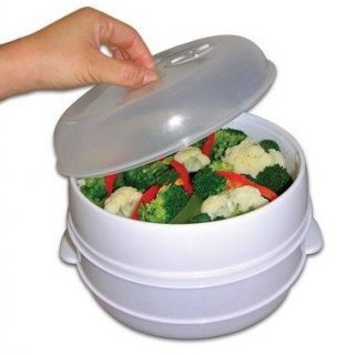 Microwave Steamer Pressure Cooker Vegetables Fish Rice
