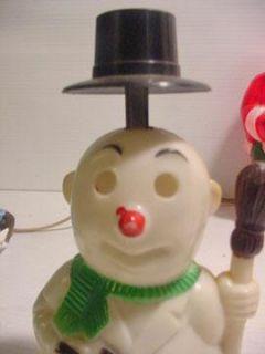 PC Lot Vintage Hard Plasitic Santas Snowmen Lights Candy Toys