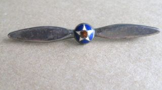 Army Air Force Sterling Enamel Propeller Pin