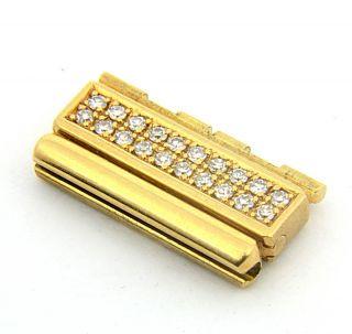 Piaget Polo 18K Diamond Link Genuine 16mm 18K Yellow Gold Mens