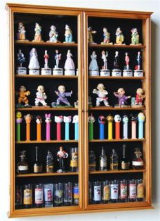 Glass 84 Shooter Figures Mini Liquor Display Case Cabinet Wall Rack