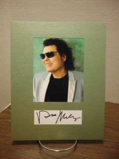 Ronnie Milsap Autograph Country Music Display Signed Signature COA