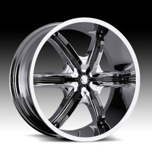 24 inch Milanni Belair 6 Chrome Wheels Rims 5x150 30