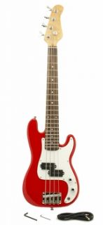 Stock Mini Bass Guitar Red Kids Childrens Beginner 36 inches Free