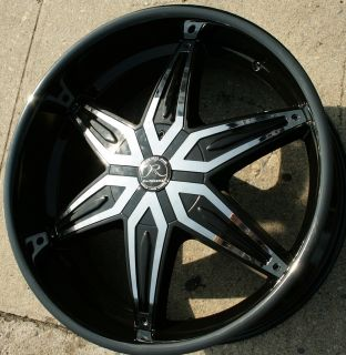Karizzma Draco KR11 22 Black Rims Wheels Tahoe 07 Up 22 x 9 5 6H 30
