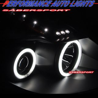 08 09 Nissan Altima 2dr Coupe CCFL Halo Projector Headlights LED Tail