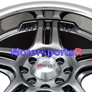 20 20x7 5 XXR 502 Chromium Black Wheels Rims 08 Acura TSX 03 TL 06 RSX