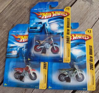 Hot Wheels Wastelander Dirt Bike x3 Variants 2007 New Models 11 0f 36