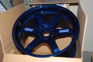 17 Volk Racing 17x8 4x100 41 TE37 Mag Blue 1 Wheel Rim Volks