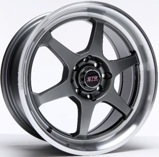 Str Racing 602 Wheels 18x8 0 5x112 Rims Et 40mm Hyper Black