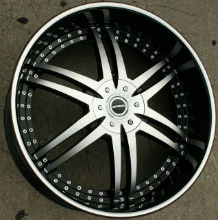STRADA DENARO 126 26 BLACK RIMS WHEELS CHRYSLER 300 300C V6 V8 / 26 X