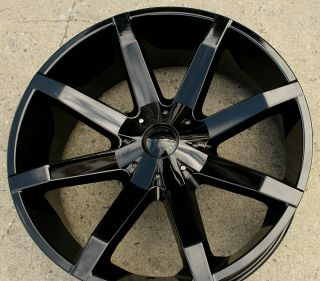 KMC Slide 651 24 Black Rims Wheels Chevrolet Silverado 07 Up 24 x 9 5