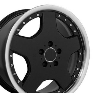 18 8 9 Black AMG Wheels Set of 4 Rims Fit Mercedes C E s Class SLK