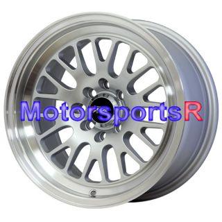 15 15x8 XXR 531 Hyper Silver Wheels Rims 4x100 4x114 3 4x4 5 Mesh Old