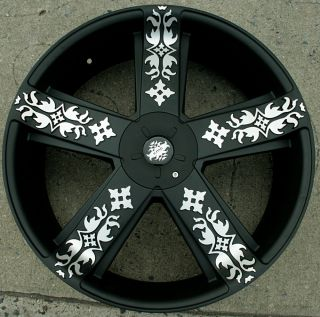 22 Black Rims Wheels Jeep Grand Cherokee 99 Up 22 x 8 5 5H 38