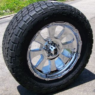 20 Chrome XD Wheels Nitto Terra Grappler Tires 8 Lug