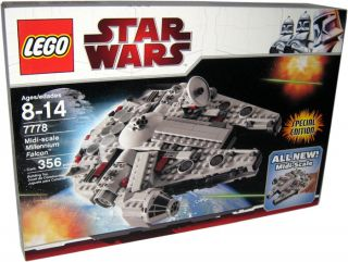 2009 LEGO STAR WARS #7778 MILLENNIUM FALCON MIDI SCALE FACTORY SEALED