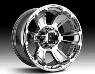 18 inch XD Revolver Chrome Wheels Rims 8x6 5 8x165 1