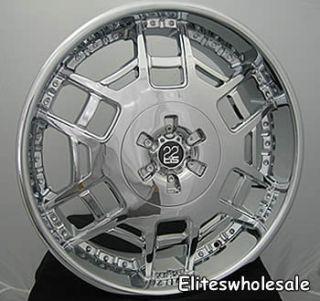 20 Chrome Wheels Rims TIS11 5x120 Pilot Camaro G8 x3 x5 LR3 Range