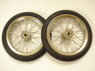 Pair of 4 inch Model Airplane Wire Wheels New