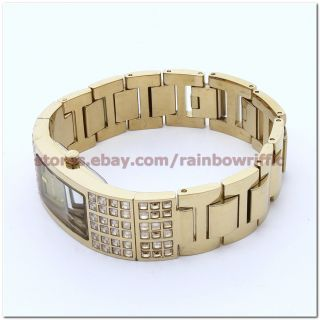 DKNY Gold Cystal Bangle Watch Ladies Bracelet NY4416 Authentic