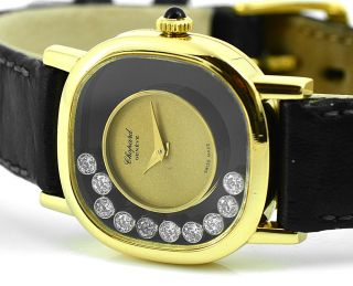 Chopard 18K Solid Gold Happy Diamond Ladies Watch Manual Wind Swiss