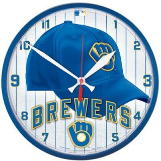 Milwaukee Brewers MLB Baseball Throwback Logo Round Cap Wall Clock