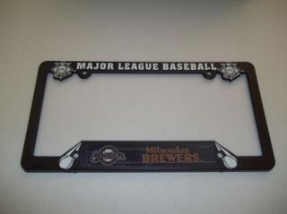Milwaukee Brewers Plastic License Plate Frame Baseball
