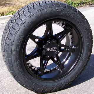 20 Black MO961 Wheels Nitto Terra Grappler Tires Chevy Silverado 1500