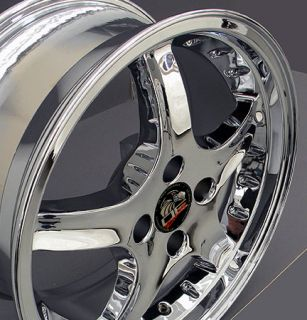 17 Cobra 4 Lug Wheels Chrome Set of 4 17x8 Rims Fit Mustang® GT 79