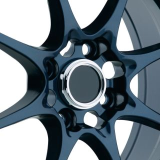 Konig FlatOut 15x8 4x100 ET25 Blue Wheels Fit Civic SI Integra Fit