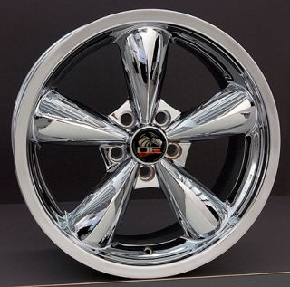 18 Chrome Bullitt Bullet Wheels with Nexen ZR Tires Rims Fit Mustang
